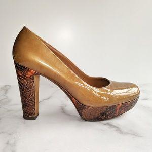 DONALD J PLINER Evie platform patent leather heels